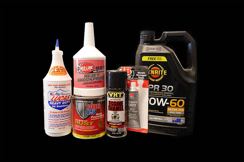 oils, paints, sealants